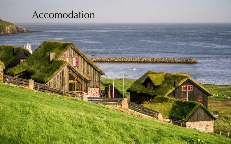 Village of Kirkjubour, Faroe Islands, Denmark
