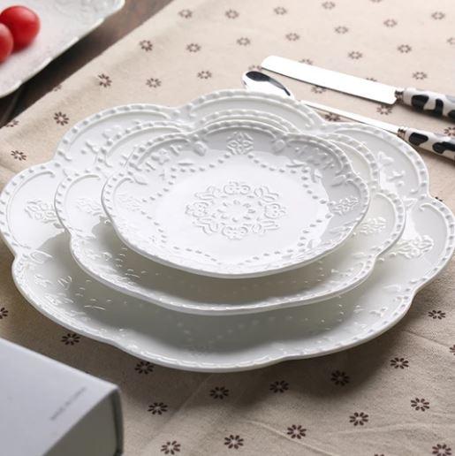 Popsicle Societt_White Lace Bone China Dinnerware