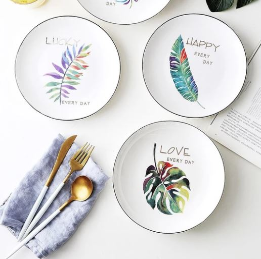 Popsicle Society Shop_Green Plants Ceramic Dinnerware