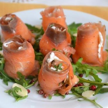 Involtini-di-salmone con maggiorana