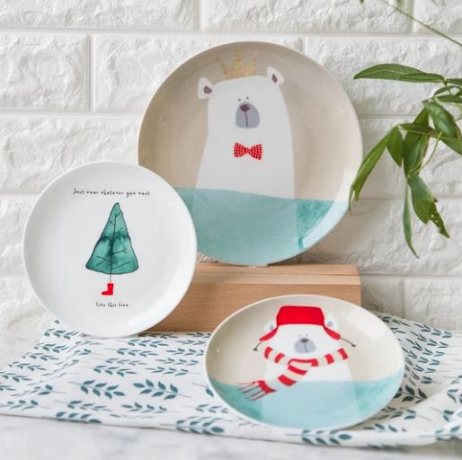 Cute ceramic dinner plates_Popsicle Society Shop_Black Friday