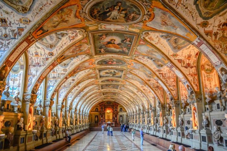 The Antiquarium of the Residenz (Royal Palace) Munich Germany