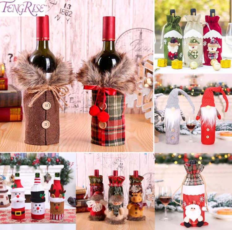 Wine Bottle Cover Christmas Decorations_Popsicle Society