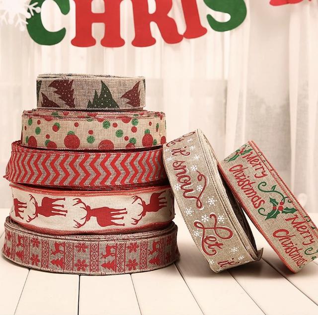 200cm linen Christmas Ribbons_Popsicle Society Shop